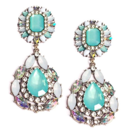 CINDERELLA EARRINGS - BLUE