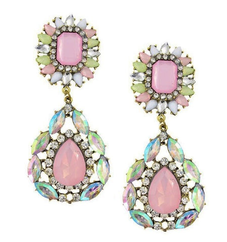 CINDERELLA EARRINGS - PINK