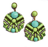 TIANI EARRINGS - GREEN