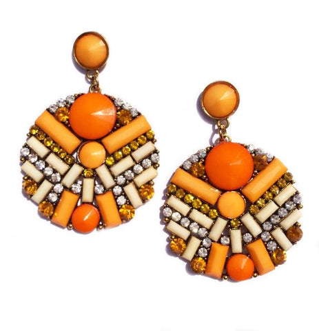 TIANI EARRINGS - ORANGE