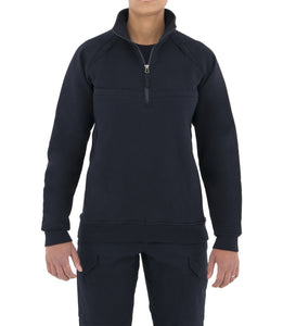Women's Cotton Job Shirt Quarter Zip