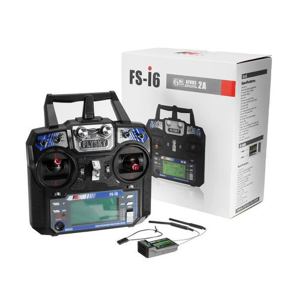 2.4G 6CH AFHDS FPV Drone RC Radio Transmitter With FS-iA6B Receiver