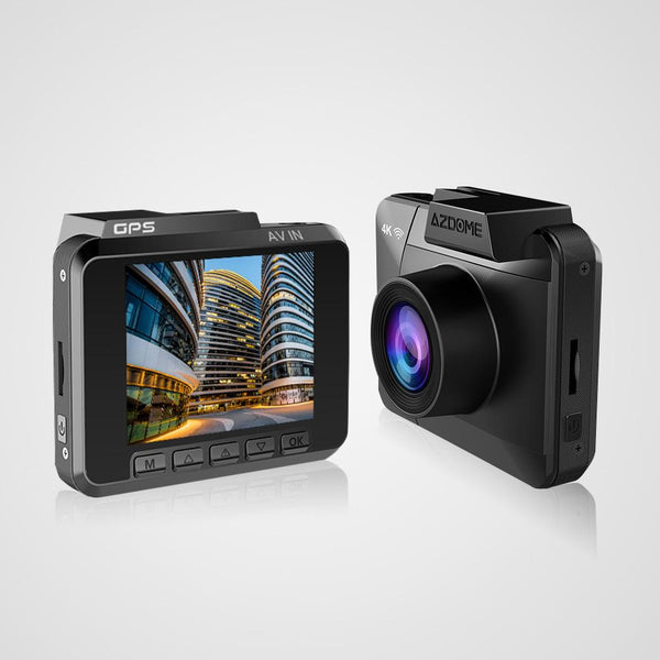 4K Ultra HD Wide Angle Dual Lens Car Dash Camera w/ Built-In GPS & WiFi