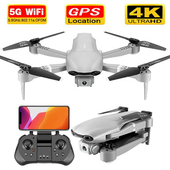 5GWiFi 1080P HD Wide Angle Foldable GPS FPV Drone with Altitude Hold Feature