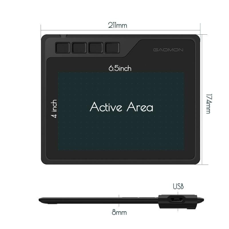 6.5X4 Inches Graphic Digital Drawing Tablet for Android MAC & Windows