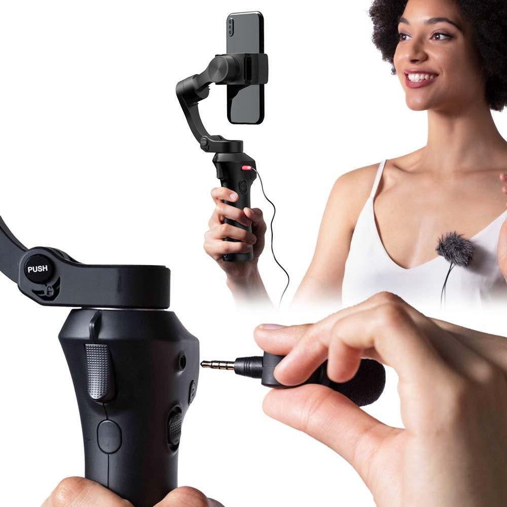 ATOM Foldable Pocket Sized 3 Axis Handheld Gimbal Stabilizer for GoPro Smartphones