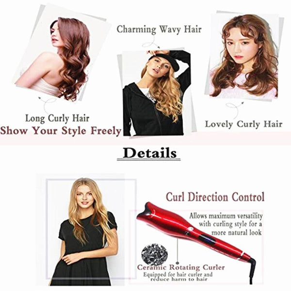 Automatic Curling Iron Air Hair Curler Spin & Curl Ceramic Rotating Curlers