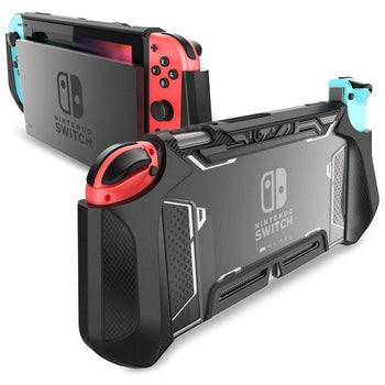 Dockable Nintendo Switch Case - Ergonomic TPU Grip Protective Cover