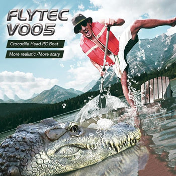 Flytec V005 Crocodile Head RC Boat 2.4G Electric Simulation Vehicles RTR Model Funny Children Toys|RC Boats