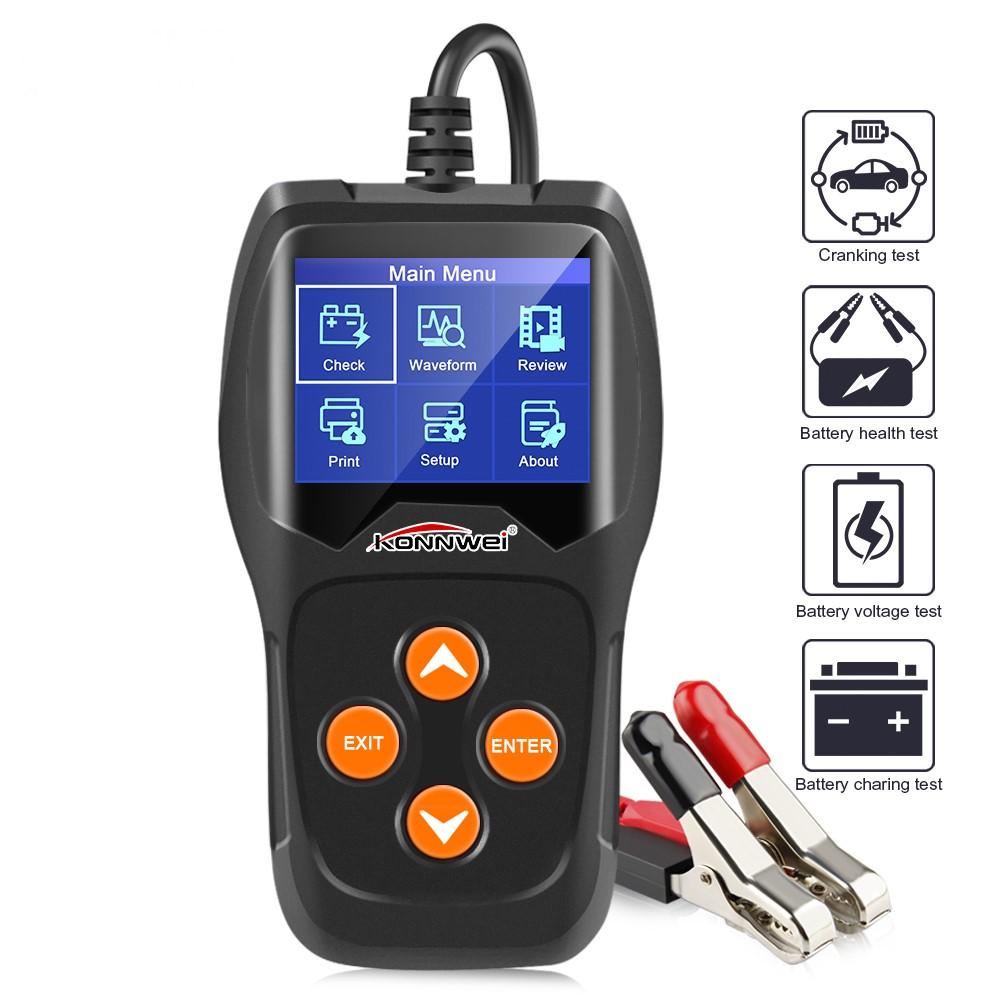 KW600 Car Battery Tester 12V Professional Automotive Digital Analyzer Waveform Voltage Test Tool