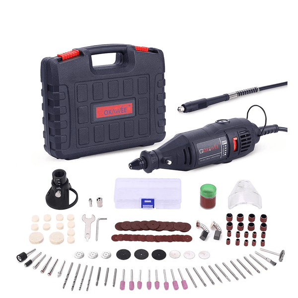 MultiPro Rotary Tool Kit 140pcs Variable Speed Electric Drill Set