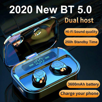 Noise Cancelling M7S BT5.0 Waterproof Wireless Earbuds with Power Bank Charging Case