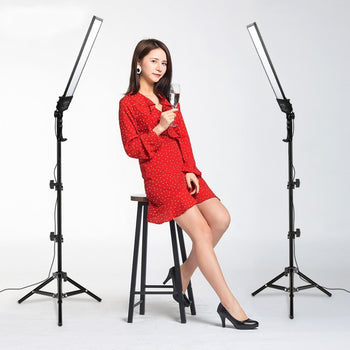 Photography Studio Lighting Kit with 2 * 188pcs LED Lights, 2M Light Stand for Youtube Portrait