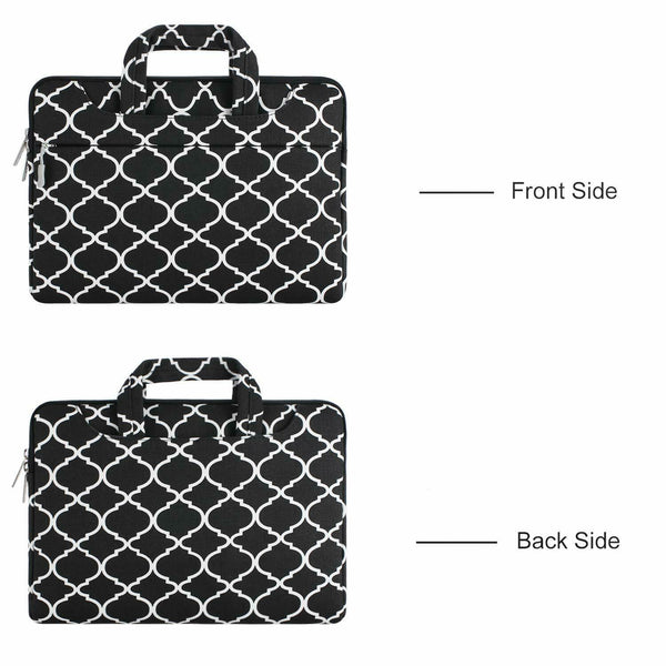 Premium Quality 3 Way Carry Portable Canvas Laptop Bag - Lightweight Portable Computer Briefcase Sleeve Case