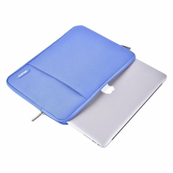 "Premium Water Repellant Polyester Vertical Laptop Sleeve Case Cover for 11"" 12"" 13"" Portable Computer"
