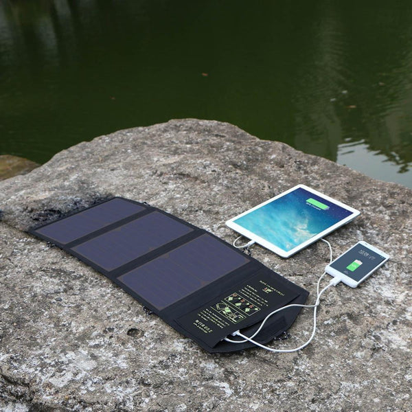 Quick Charging Foldable Dual USB Mobile Phone Portable Solar Charger