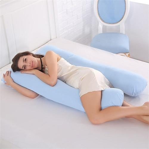 U Shape Maternity Pregnancy Cozy Bump Pillows Side Sleepers Bedding
