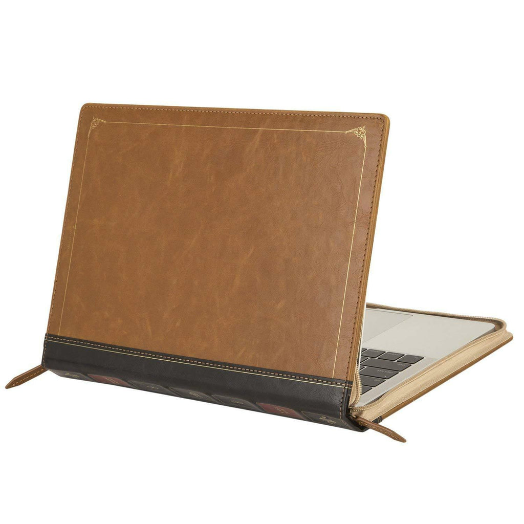 Vintage Book Style PU Leather Macbook Case for New Air 13 & Pro 13/15