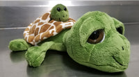 Big Eye Sea Turtle Plush With Baby
