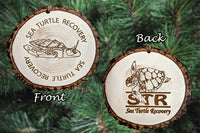 Sea Turtle Recovery Ornament - Faux Wood