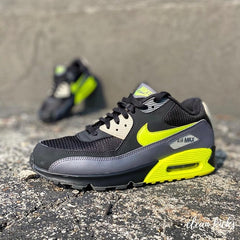 Black, White and Neon Yellow Nike Air Max 90 shoe cleaning Columbus ohio