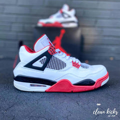 white black and white Air Jordan 4's shoe cleaning Columbus ohio