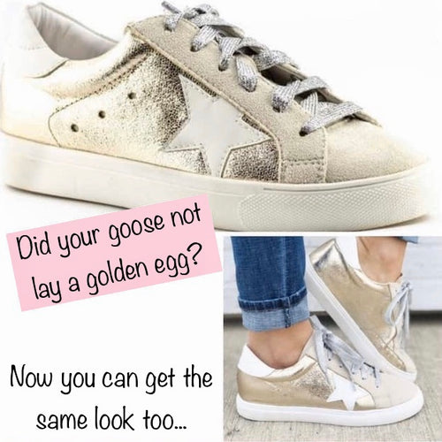Golden Star - Sneaker (Rose Gold)