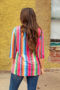 L&B Serape Crew Neck with Side Pockets