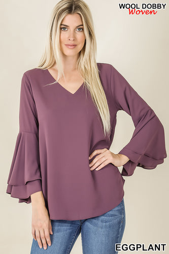 """Madison"" - Double Bell Sleeve Top"