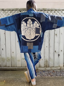 Patchwork Family Crest Remake Boro Jacket