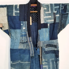 Load image into Gallery viewer, Patchwork Shibori Reversible Noragi Jacket