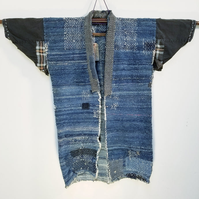 Sakiori Weave Hemp Boro Farmer's Jacket