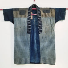 Load image into Gallery viewer, Noragi Sashiko Short Sleeves Noragi with Patches