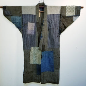 Patchwork Boro Reversible Folk Jacket