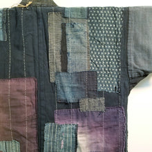 Load image into Gallery viewer, Patchwork Boro Reversible Sashiko Noragi Field Jacket