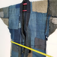 Load image into Gallery viewer, Patchwork Aizome Boro Meiji Antique Reversible Noragi Jacket