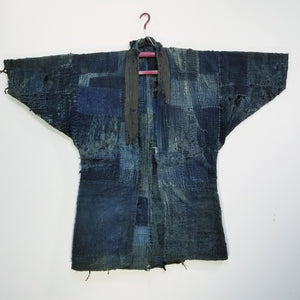 Patchwork Boro Edo Reversible Winter Noragi Jacket