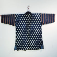 Load image into Gallery viewer, Noragi Indigo Sashiko Kasuri Ikat Jacket