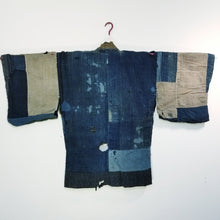 Load image into Gallery viewer, Noragi Boro Aizome Historical Drama Stage Costume Reversible Jacket
