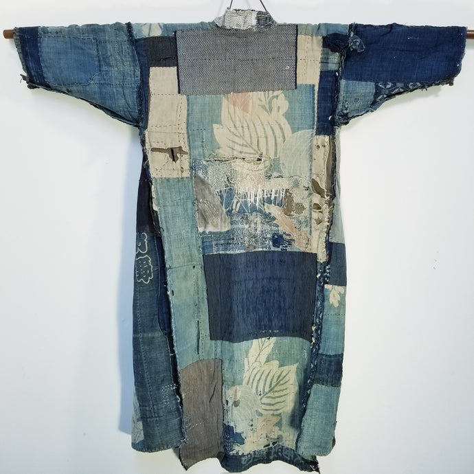 Patchwork Northern Japan Sashiko Tsutsugaki Boro Jacket