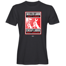 "Load image into Gallery viewer, ""Skilled Labor_Hammer and Wrench"" T-shirt (available in black and navy)"