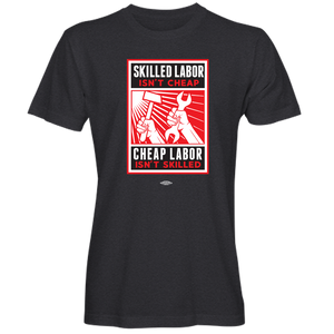 """Skilled Labor_Hammer and Wrench"" T-shirt (available in black and navy)"