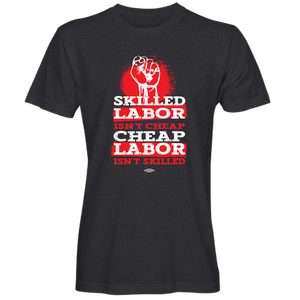 """Skilled Labor_Red Splotch Design"" T-shirt (available in black and navy)"