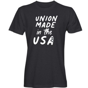 """Union Made in USA"" T-shirt_Fun Design"