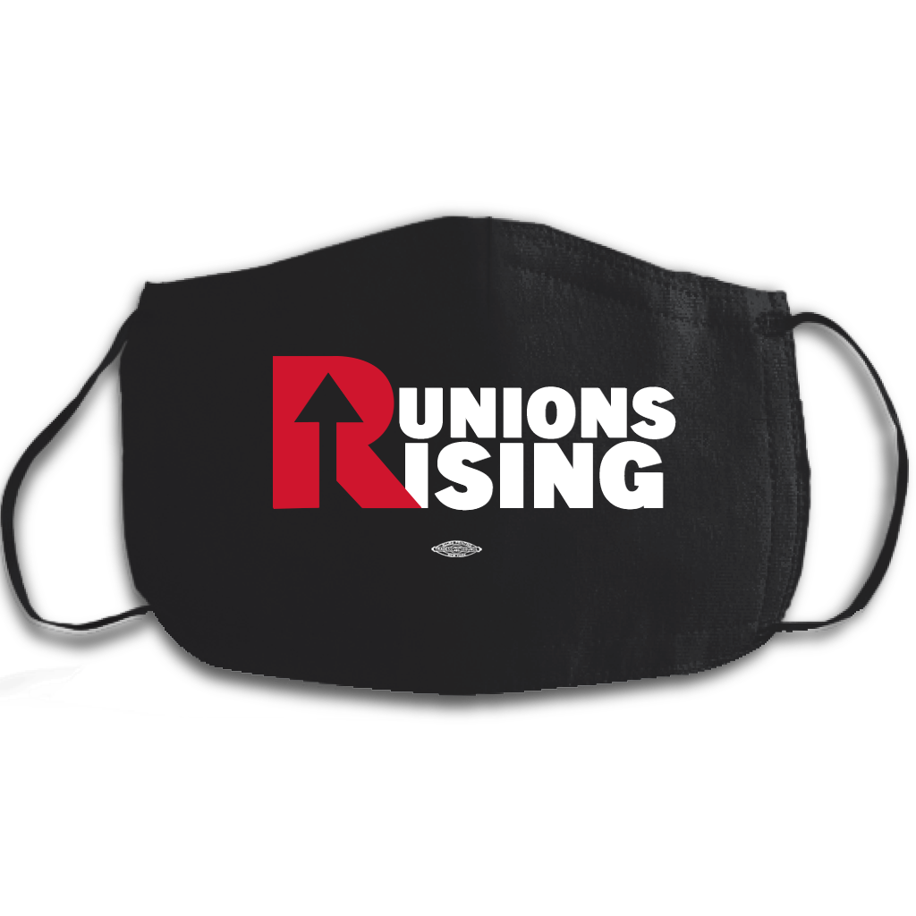 Unions Rising Face Black Mask