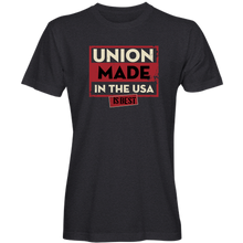 "Load image into Gallery viewer, ""Union Made is Best"" T-Shirt (available in black, navy and purple)"