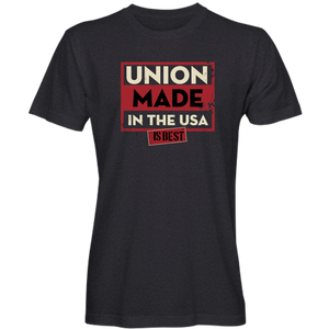 """Union Made is Best"" T-Shirt (available in black, navy and purple)"