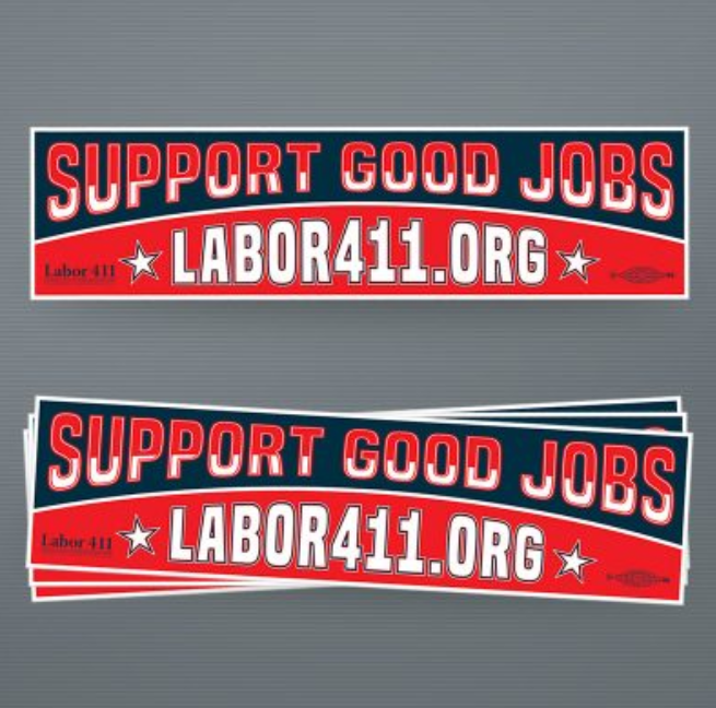 Labor 411 Bumper Sticker