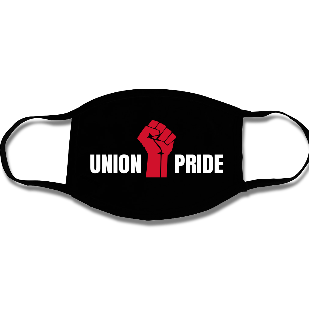 USA Made & Union Printed Face Mask (available in white, black and navy)