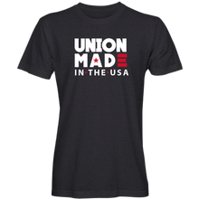 "Load image into Gallery viewer, ""Union Made in the USA"" T-shirt (available in black and navy)"